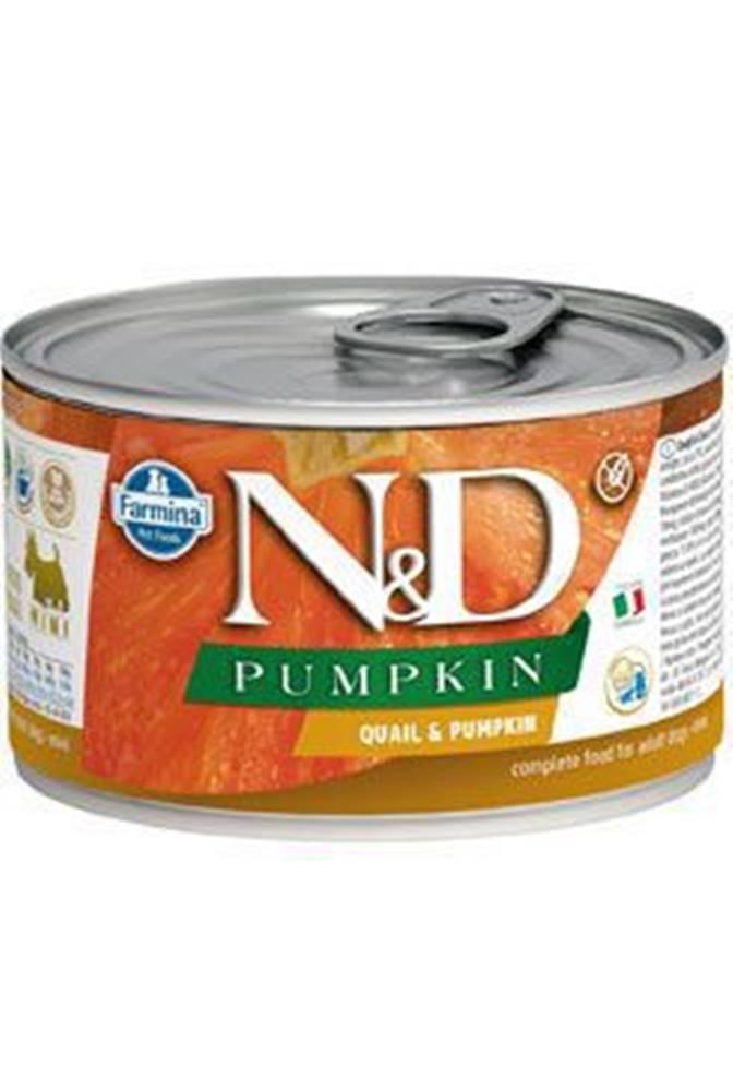 N&D (Farmina Pet Foods) N&D DOG PUMPKIN Adult Quail & Pumpkin Mini 140g