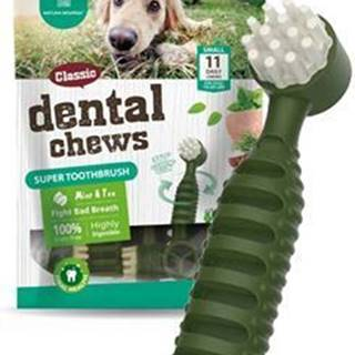 Dental CHEWS Super Toothbrush mäta a čaj 170g / 11ks