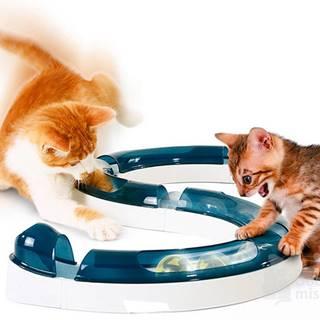 Hračka mačka guľovou dráhou s loptičkou CATIT plast 1ks