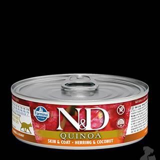 N&D GF CAT QUINOA Herring & Coconut 80g