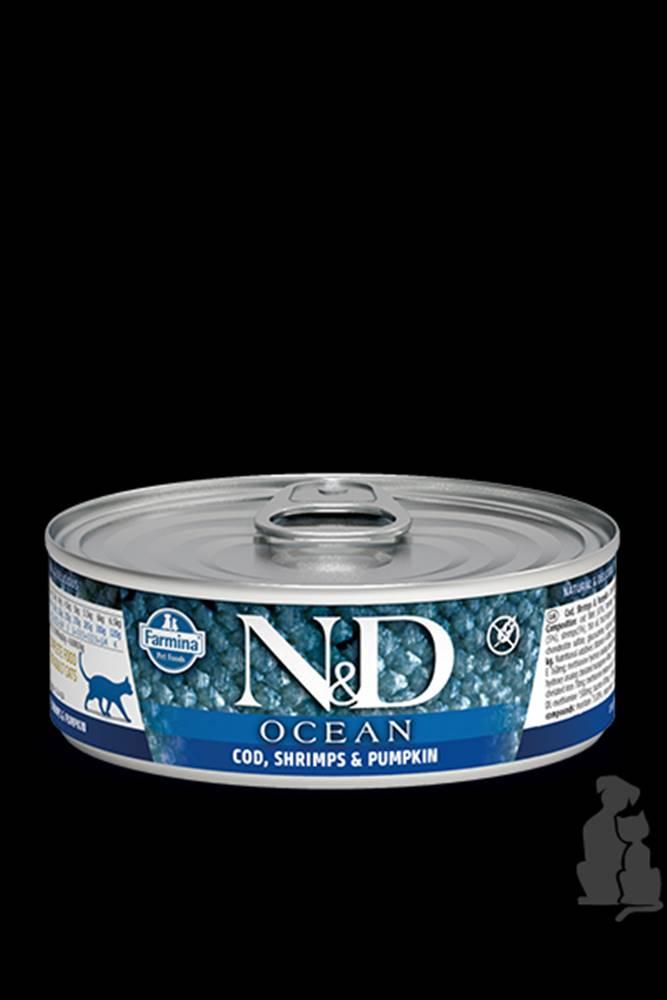 N&D (Farmina Pet Foods) N&D GF CAT OCEAN Adult Codfish & Shrimps &Pumpkin 80g