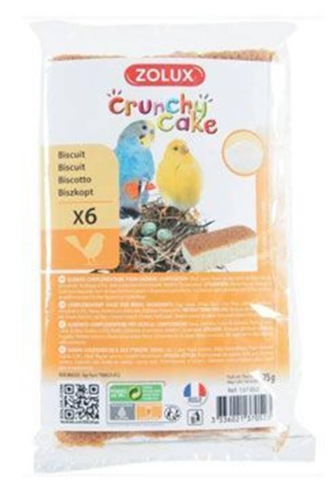 Zolux Sušienky vták Crunchy CAKE GROWTH 6ks 75g Zolux