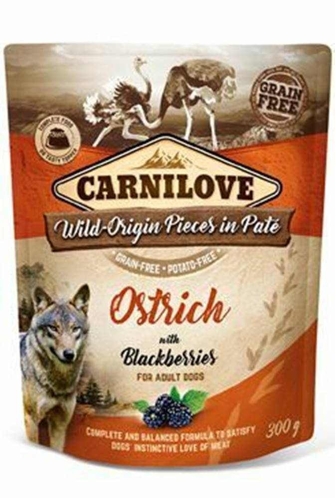 Carnilove Carnilove Dog Pouch Paté Ostrich & Blackberries 300g