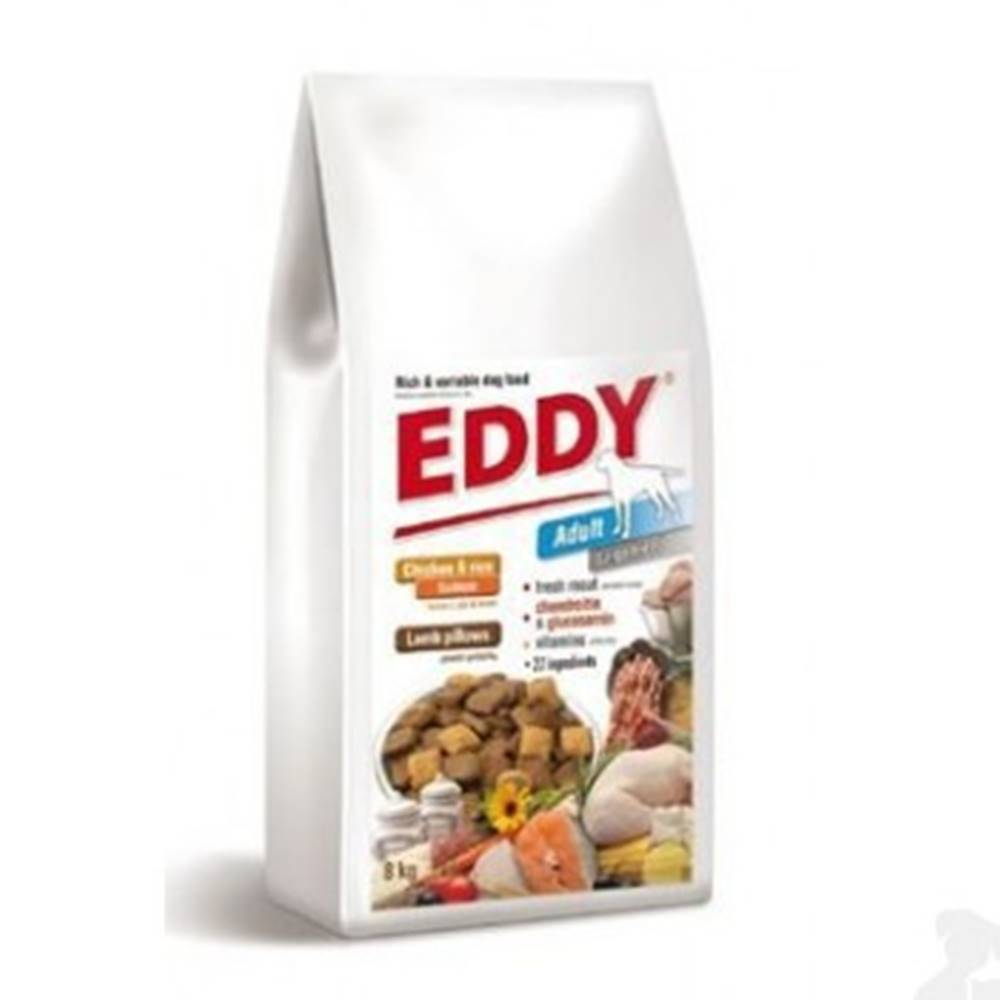 EDDY EDDY Junior Large Breed  polštářky s jehněčím 8kg