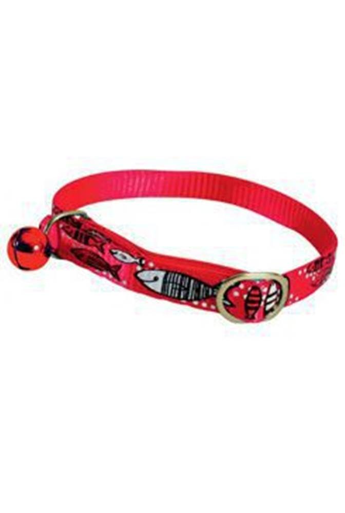 Zolux Obojek kočka SARDINE nylon červený 10mm/30cm Zolux