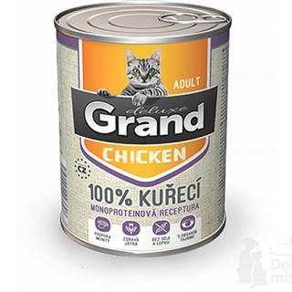 GRAND konz. mačka deluxe 100% hydinové 400g