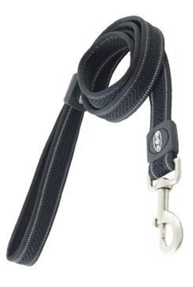 Kruuse Jorgen A/S Vodítko BUSTER AIRmesh reflexné L / XL 140cm / 25mm čierne