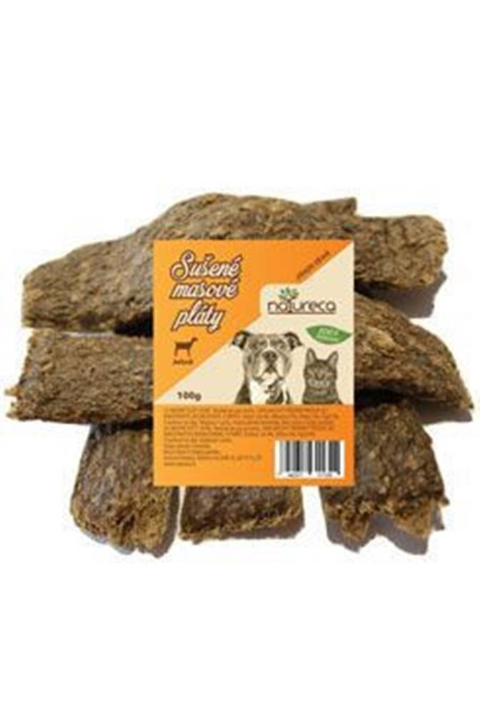 NATURECA NATURECA pochoutka Masové pláty-Jehně,  100%maso 100g