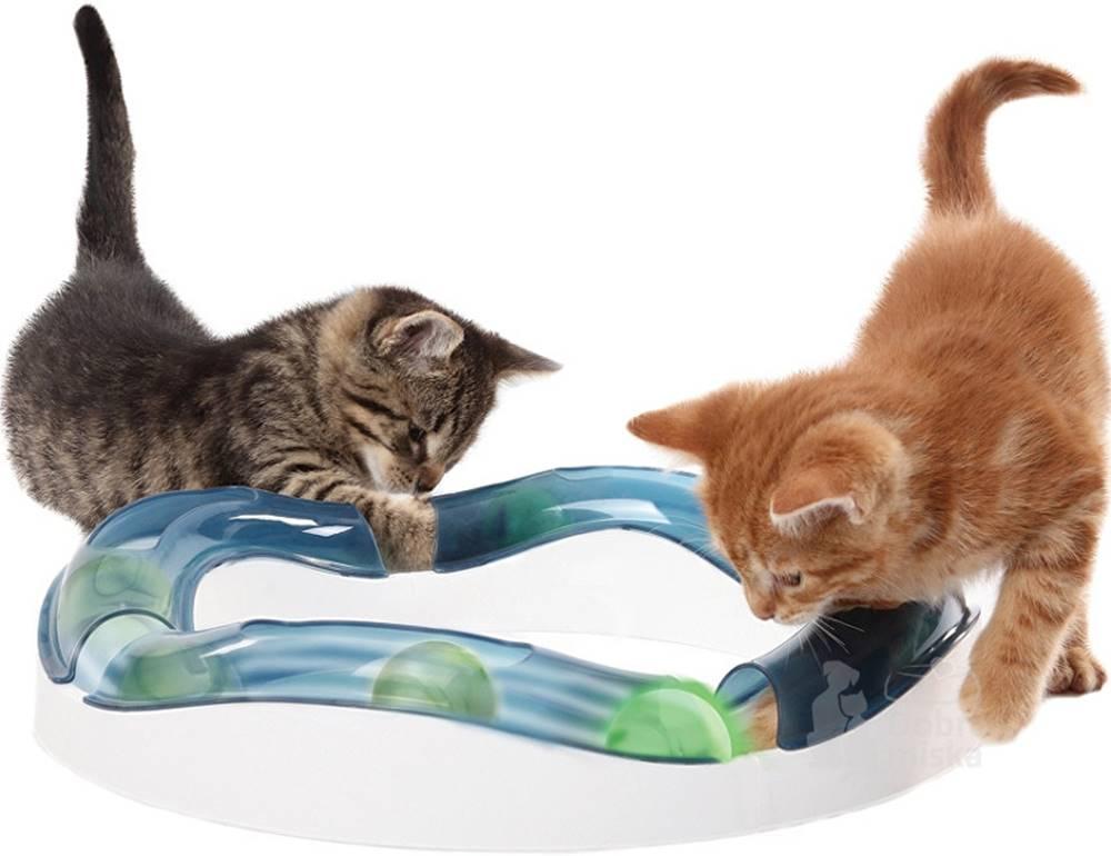 Plaček Hračka kočka Koulodráha horská s míčkem CATIT plast