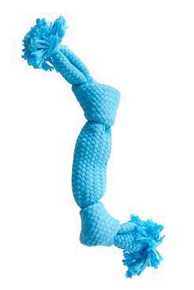 Kruuse Jorgen A/S Hračka pes BUSTER Pískací lano, modrá, 35 cm, M