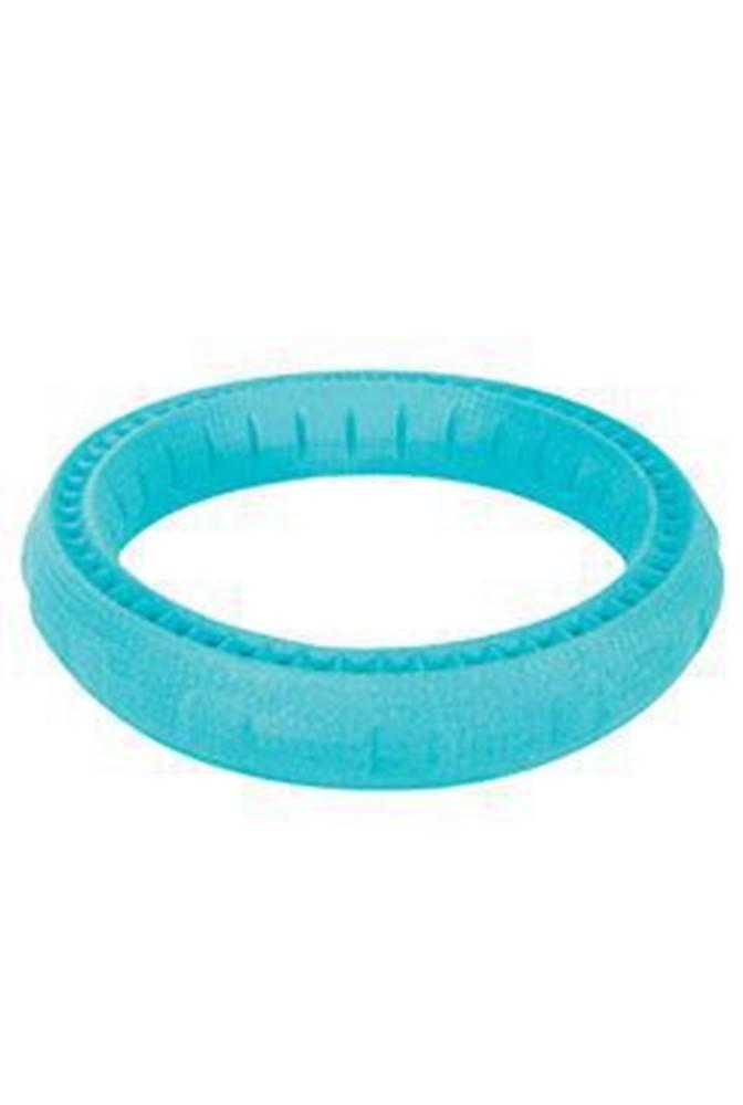 Zolux Hračka pes RING MOOS TPR POP 17cm modrá Zolux