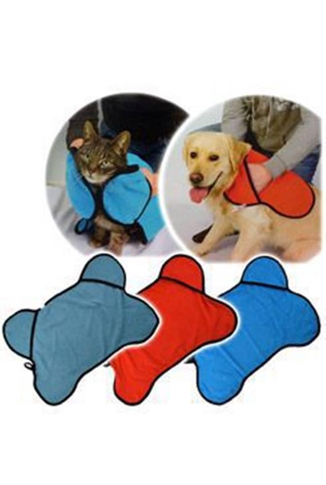 PetGift Ručník pro psy/kočky s kapsami na ruce, 50x80cm