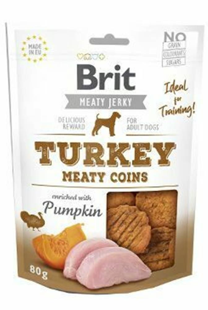 Brit Brit Jerky Turkey Meaty Coins 80g