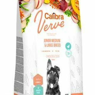Calibra Dog Verve GF Junior M&L Chicken&Duck 12kg