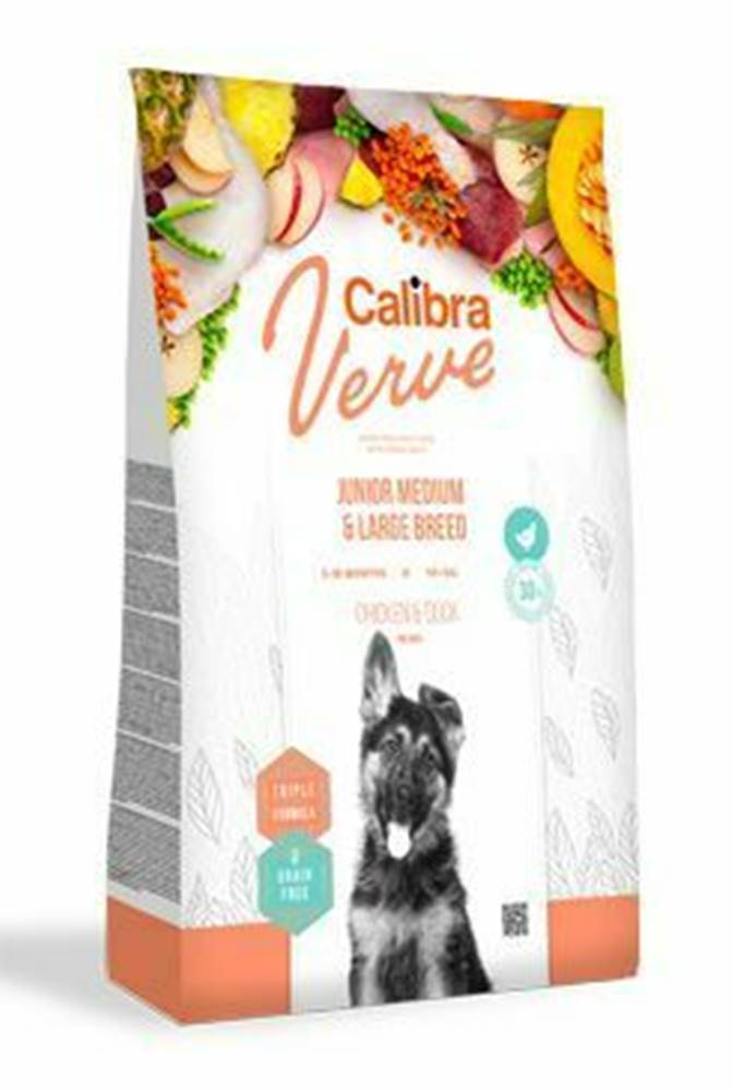 Calibra Calibra Dog Verve GF Junior M&L Chicken&Duck 2kg