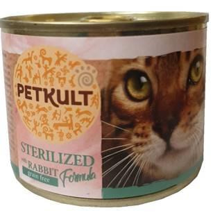 PETKULT  cat konz. STERILISED  králík - 185g