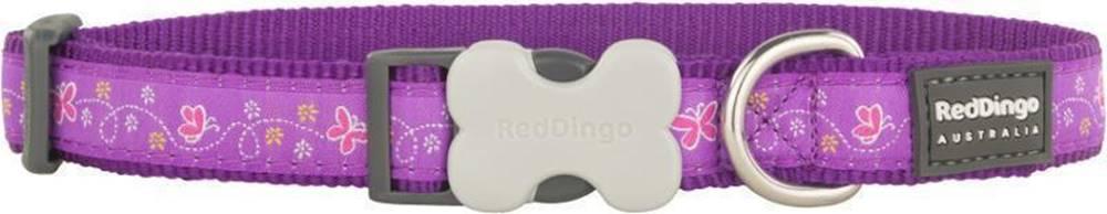 Red-dingo Obojek RD BUTTERFLY purple - 1,2/20-32cm