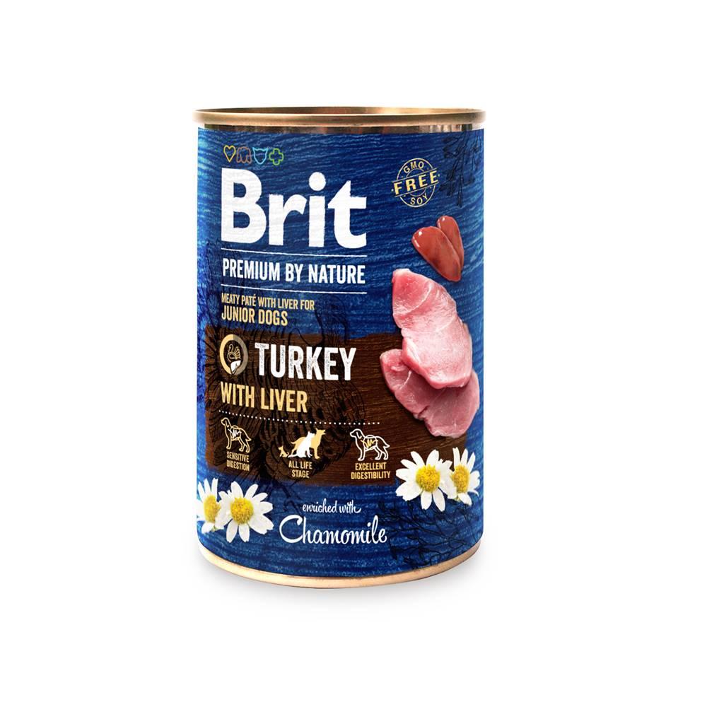 Brit BRIT dog Premium by Nature TURKEY with LIVER - 400g