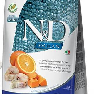 N&D dog GF OCEAN ADULT MINI codfish/orange - 800g