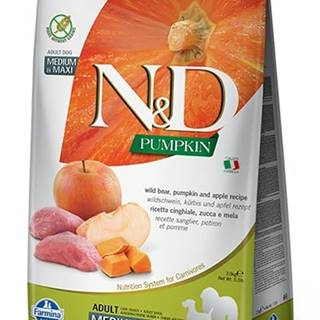 N&D dog GF PUMPKIN ADULT M/L boar/apple - 2,5kg