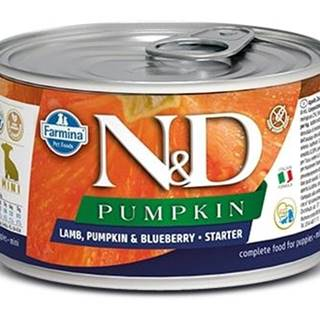 N&D dog GF PUMPKIN konz. STARTER MINI lamb/blueberry - 140g