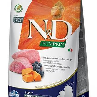 N&D dog GF PUMPKIN PUPPY M/L lamb/blueberry - 2,5kg