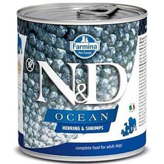 N&D dog OCEAN konz. ADULT herring/shimps - 285g