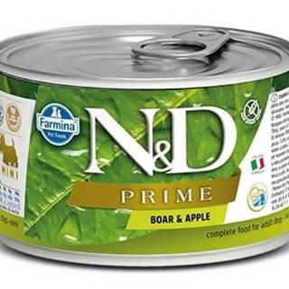 N&D dog PRIME konz. ADULT MINI boar/apple - 140g