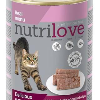 NUTRILOVE cat    konz. paté - TEĽACIE 400g