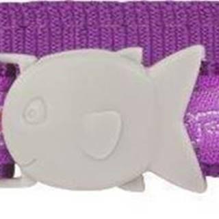 Obojek RD  cat BUTTERFLY purple - 1,2/20-32cm