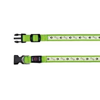 Obojok USB / svietiacu ZELENÝ - 2,5cm/30-40cm