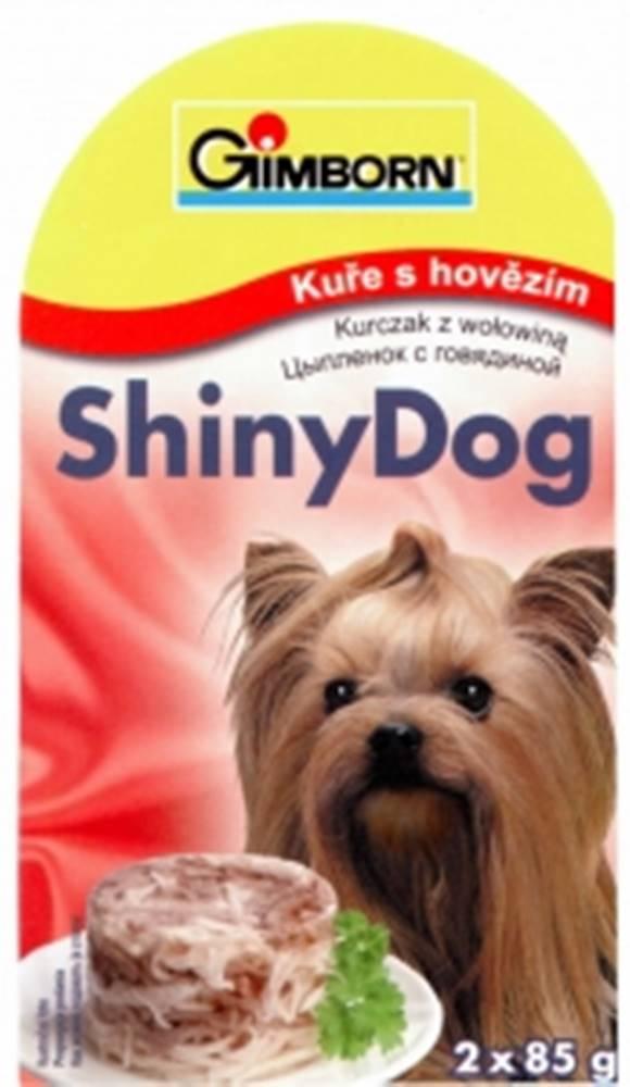 (bez zařazení) GIMBORN SHINY dog konz. KURČA / hovädzie - 2x85g
