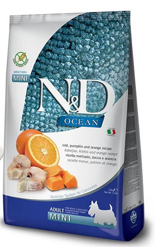 Natural&Delicious N&D dog GF OCEAN ADULT MINI codfish/orange - 800g