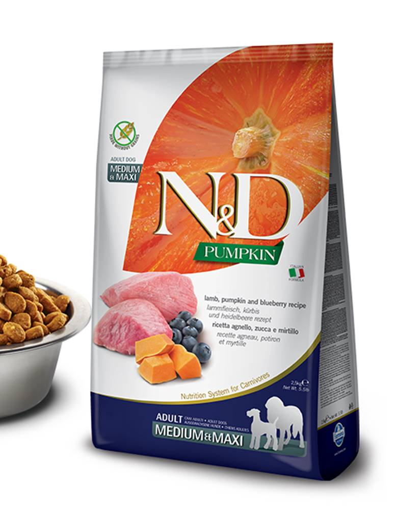 Natural&Delicious N&D dog GF PUMPKIN ADULT M/L lamb/blueberry - 2,5kg