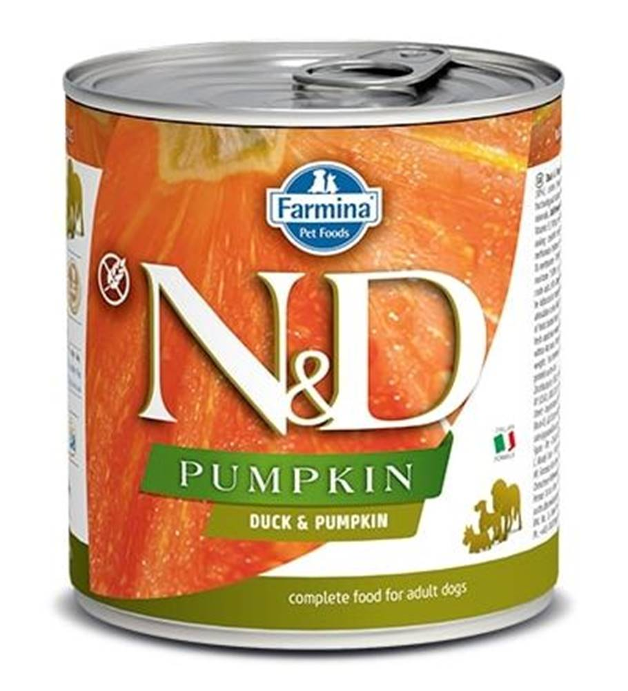 Natural&Delicious N&D dog GF PUMPKIN konz. ADULT duck - 285g