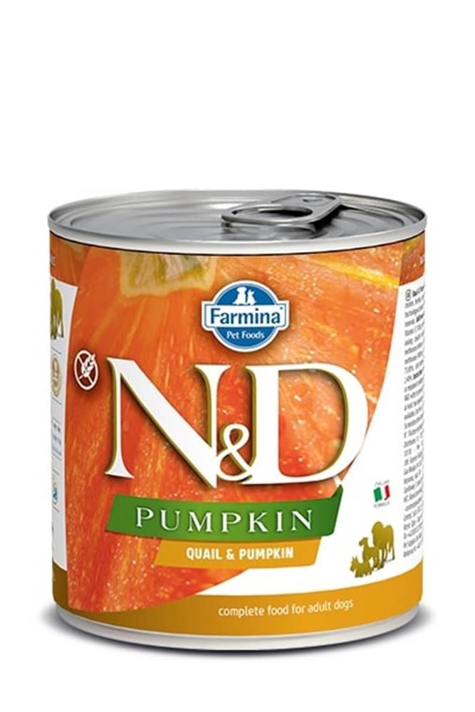 Natural&Delicious N&D dog GF PUMPKIN konz. ADULT quail/pumpkin - 285g