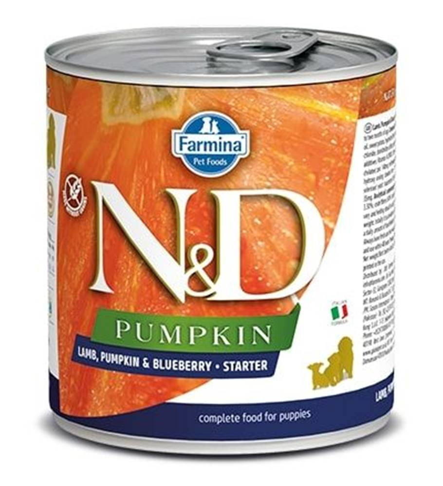Natural&Delicious N&D dog GF PUMPKIN konz. STARTER lamb/blueberry - 285g