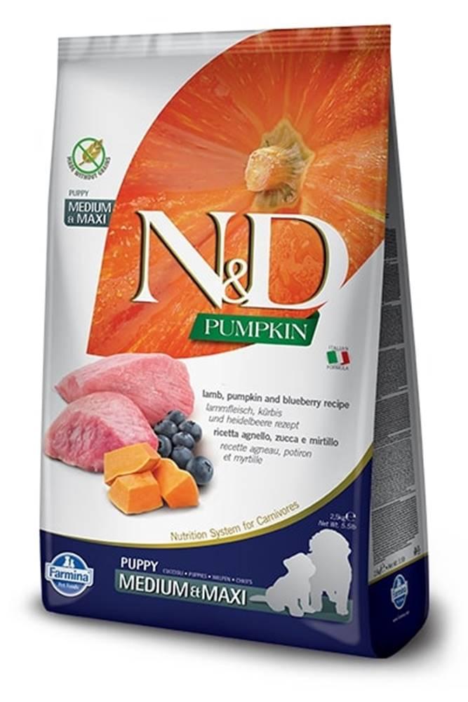 Natural&Delicious N&D dog GF PUMPKIN PUPPY M/L lamb/blueberry - 2,5kg