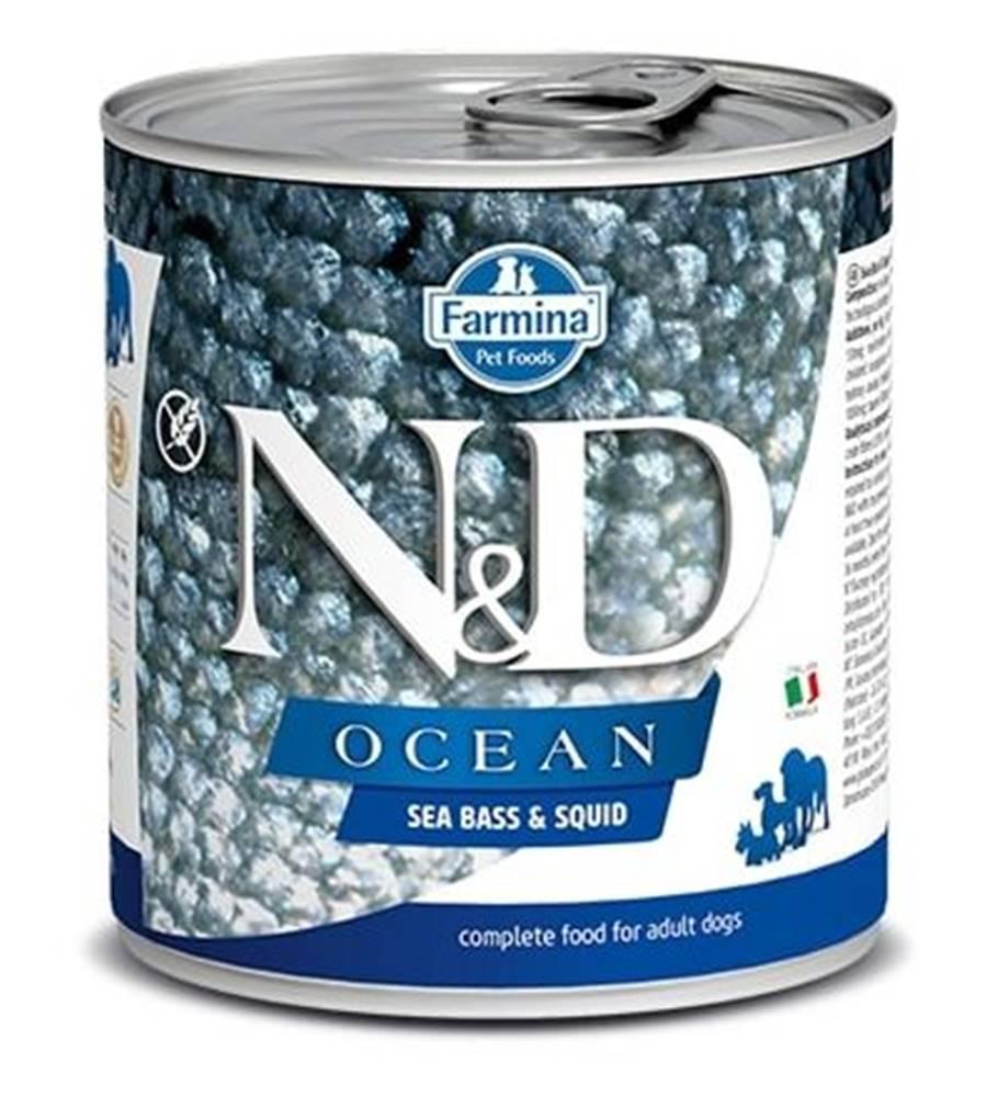 Natural&Delicious N&D dog OCEAN konz. ADULT sea bass/squid - 285g