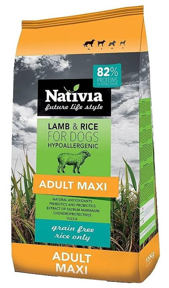 (bez zařazení) NATIVIA dog ADULT MAXI lamb - 15kg