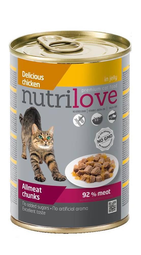 Nutrilove NUTRILOVE cat konz. kúsky - KURACIE 400g
