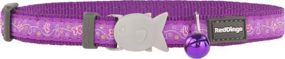 (bez zařazení) Obojek RD  cat BUTTERFLY purple - 1,2/20-32cm