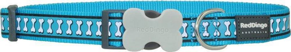 Red-dingo Obojok RD reflective TURQUOISE - 1,2/20-32cm