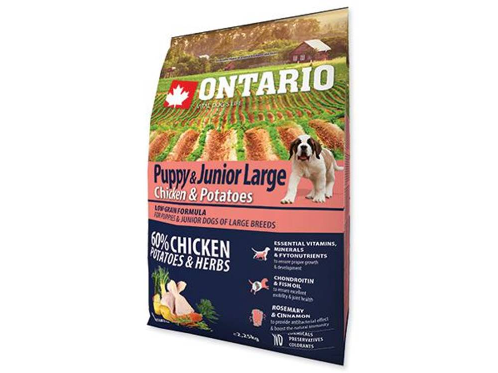 Ontario ONTARIO dog JUNIOR LARGE chicken - 2.25kg