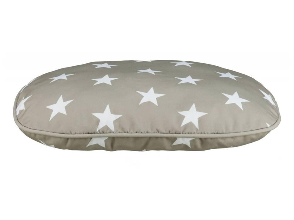 Trixie Vankúš (ovál) STARS šedý s hviezdami - 60x40cm