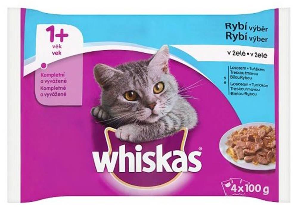 Whiskas WHISKAS kapsa RYBÍ výběr v želé - 4ks