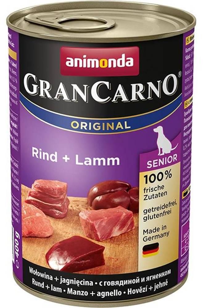 Animonda Animonda dog konzerva Gran Carno Senior hovězí/jehněčí - 400g