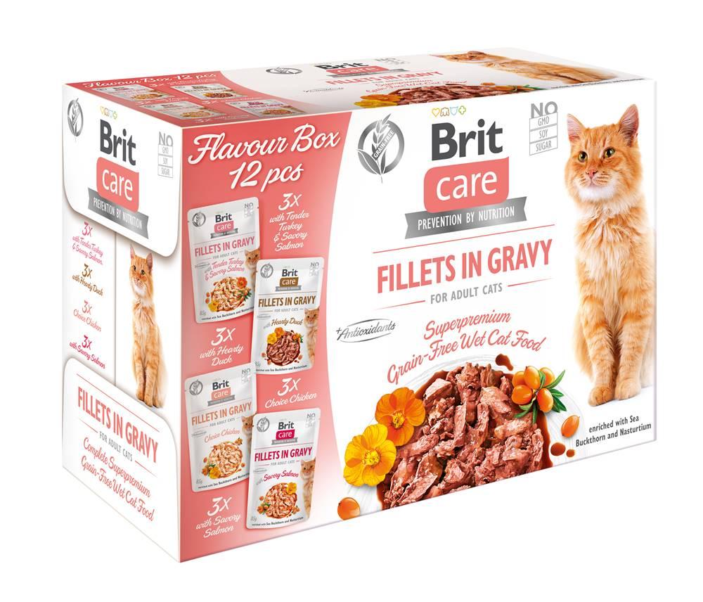 Brit Care BRIT CARE cat kapsa FILLET in gravy - 12 x 85g