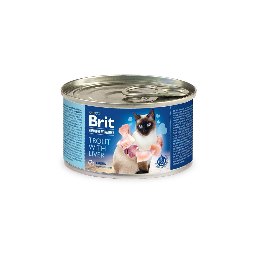 Brit BRIT cat  premium konz. TROUT/liver - 200g
