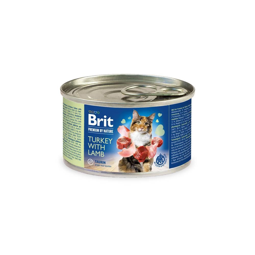 Brit BRIT cat  premium konz. TURKEY/lamb - 200g